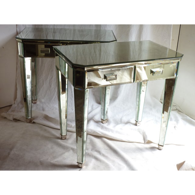 Mirrored Side Tables - A Pair - Image 3 of 10