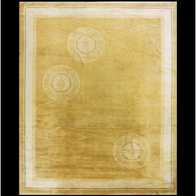 Antique Chinese Art Deco Rug For Sale - Image 12 of 12