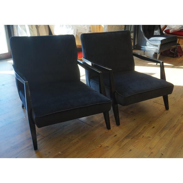 Mid-Century Modern Ponti Era Fireside Low Slipper Chairs - A Pair For Sale - Image 3 of 11