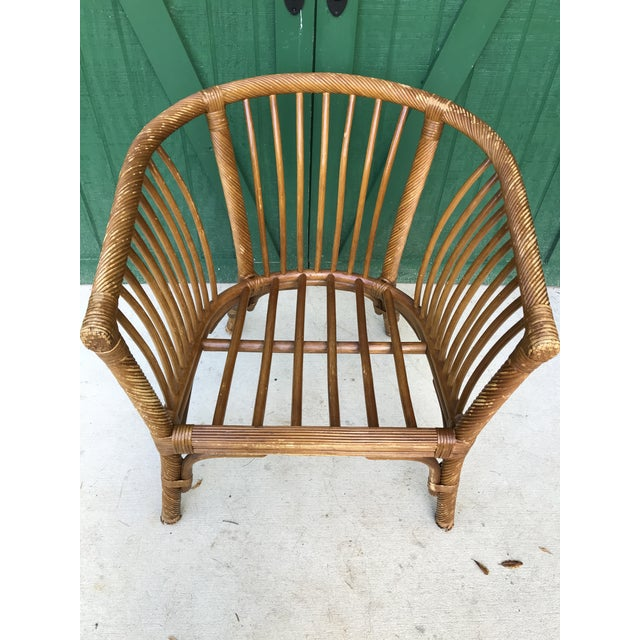 1950s Boho Chic Franco Albini Bamboo Side Chair For Sale - Image 10 of 11