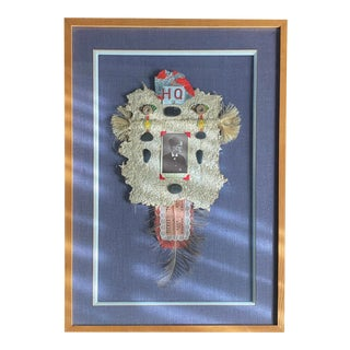 Framed Folk Art Memorial Assemblage For Sale