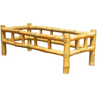 Ralph Lauren-Attributed Bamboo Coffee Table For Sale