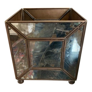 Worlds Away Antique Mirror Classic Planter For Sale