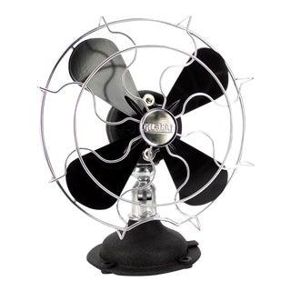Circa 1930s Gilbert M1384 Oscillating Desk Fan Professionally Restored For Sale