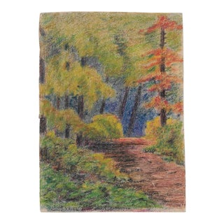 1920s California Forest Drawing Benjamin Harnett For Sale