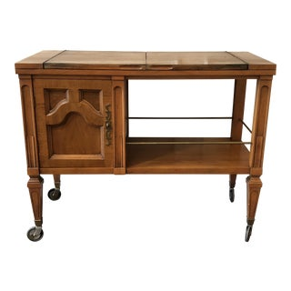 Mid-Century Rolling Serving Cart