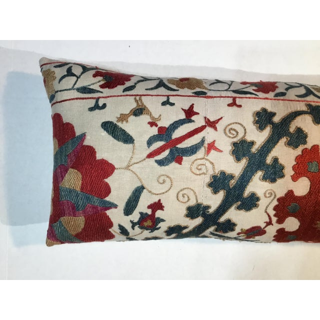 1960s Mediterranean Hand Embroidery Suzani Pillow For Sale In Miami - Image 6 of 11