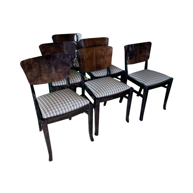 Wood Ebonized 20th Century English Dining Chairs - Set of 6 For Sale - Image 7 of 7