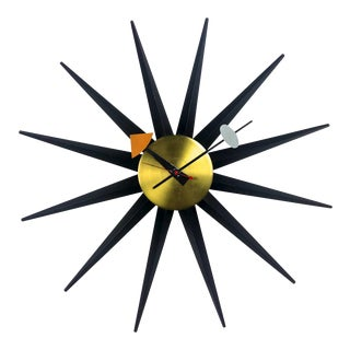 Vintage George Nelson Spike Clock 1956