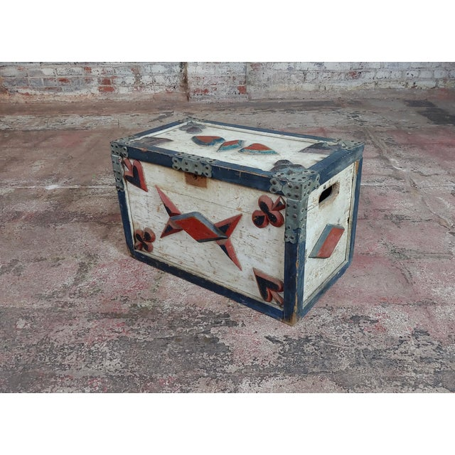 19th Century Americana Painted Trunk For Sale - Image 10 of 10