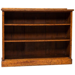 19th Century English Open Front Bookcase For Sale