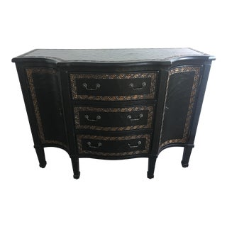 Antique Black and Gold Textured Sideboard