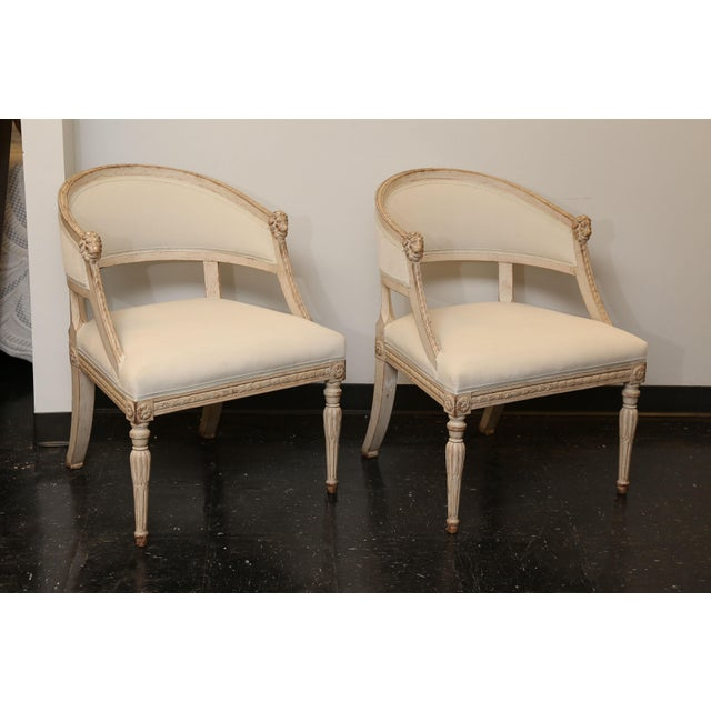 Pair of 19th Century Gustavian Barrel Back Chairs - Image 5 of 10