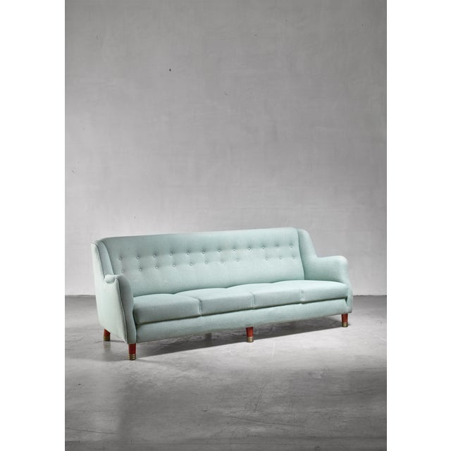 Grete Jalk Four Seater Sofa for Johannes Hansen, Denmark For Sale - Image 6 of 6