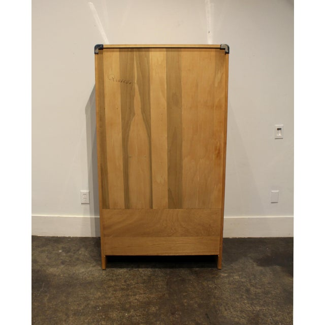 Mid Century Modern Burl and Chrome High Chest Wardrobe by Pace For Sale - Image 9 of 10