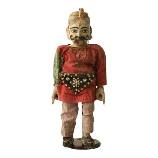 C.1910 English Wooden Merchant Doll For Sale