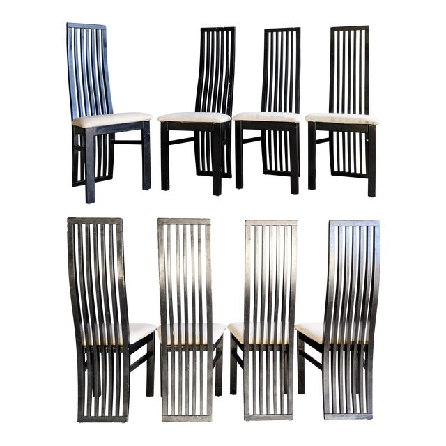 1980s Contemporary Dining Chairs - Set of 8 For Sale