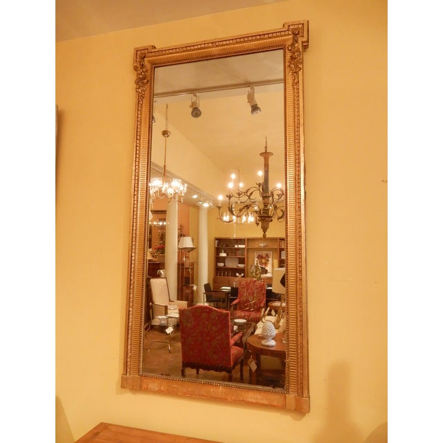 Gold 19th Century Louis XVI Gold Gilt Mirror For Sale - Image 8 of 8