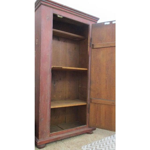 Antique Swedish Original Paint Cupboard Cabinet - Image 4 of 11