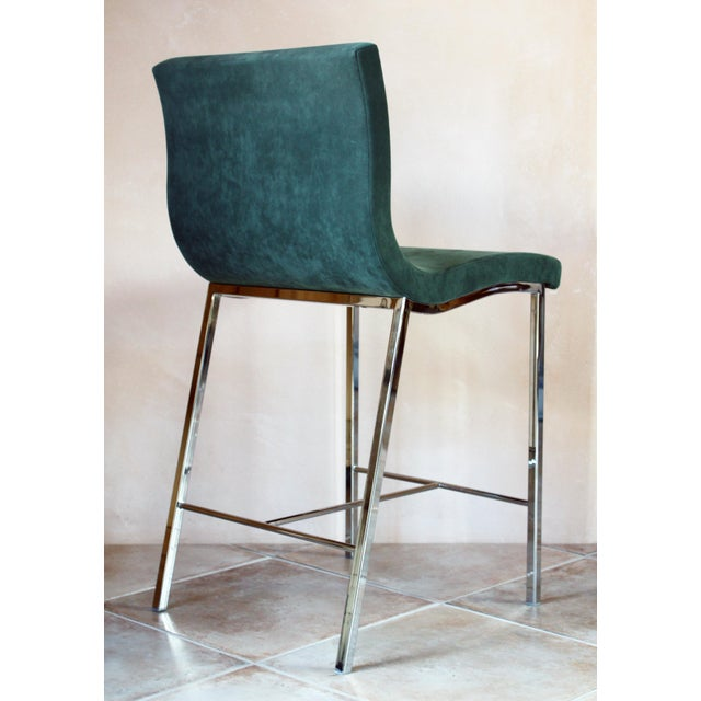 Green Modern Ligne Roset Counter Stools - a Pair For Sale - Image 8 of 10