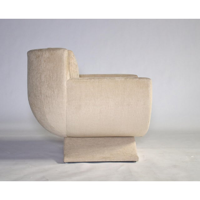 Art Deco Richard Himmel Upholstered Club Chair For Sale - Image 3 of 8