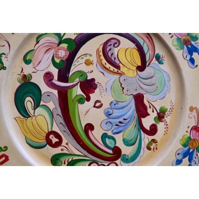 1800s Norwegian Bread Platter, Signed For Sale - Image 4 of 11