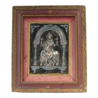 Antique Hindu Icon Framed Artwork For Sale