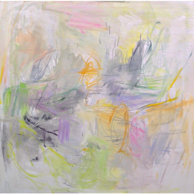 """""""Sydney Sunrise"""" by Trixie Pitts Large Abstract Expressionist Oil Painting For Sale - Image 12 of 13"""