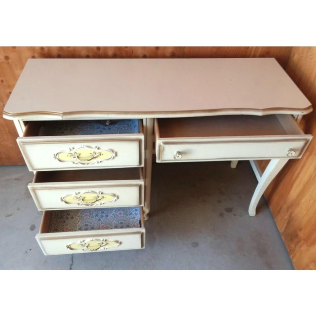 20th Century French Provincial Henry Link Style Writing Desk For Sale In Los Angeles - Image 6 of 9