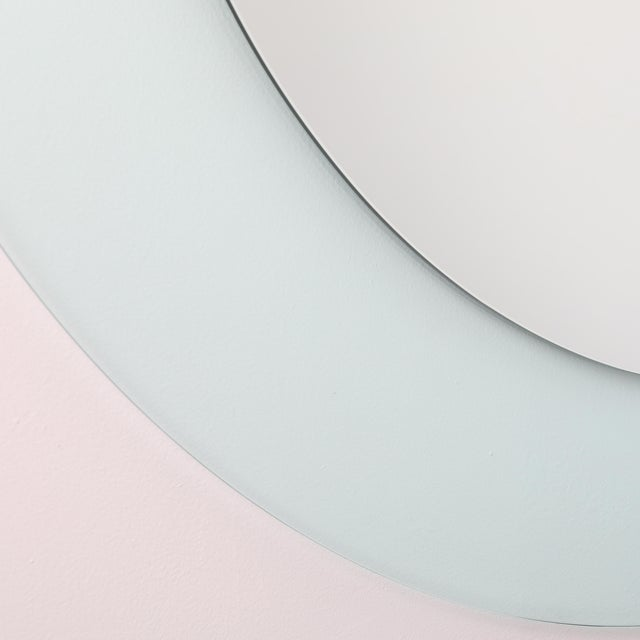 Not Yet Made - Made To Order Full Circle Modern Original Round Acrylic Frame Mirror For Sale - Image 5 of 11