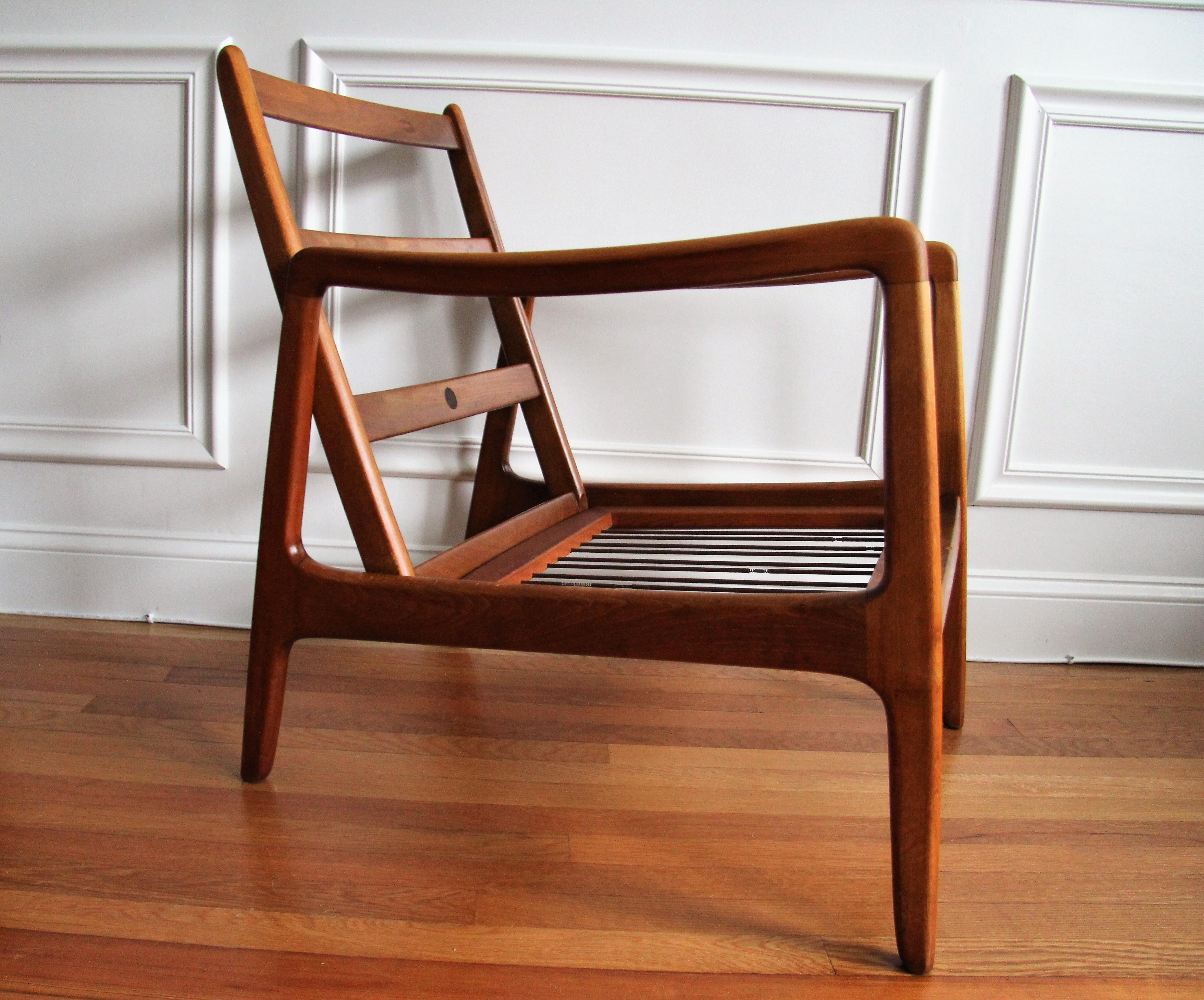 Wonderful Ole Wanscher For France And Daverkosen Mid Century Modern Danish Teak  Lounge Chair   Image