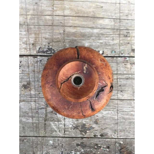 1940s Wood Burl Bud Vase For Sale - Image 5 of 10