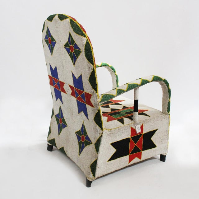 Nigerian Beaded Arm Chair Chairish