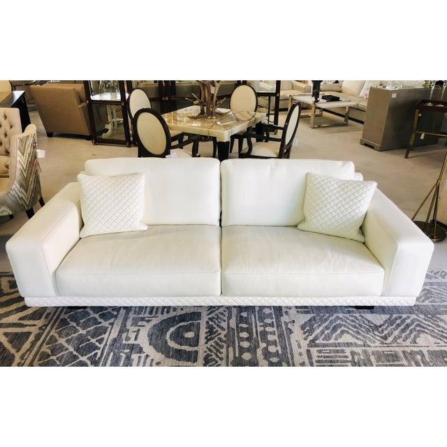 21st Century C&b Italia Gurian White Leather Italian Sofa