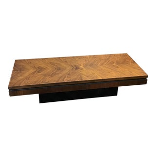Mid-Century Lane Burlwood Veneer Coffee Table For Sale