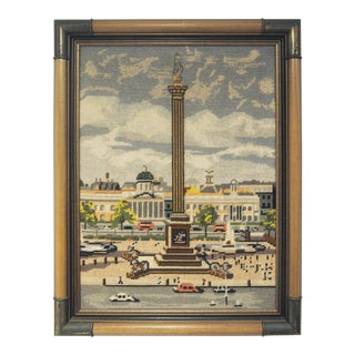 Vintage Nelson's Column Needlepoint For Sale