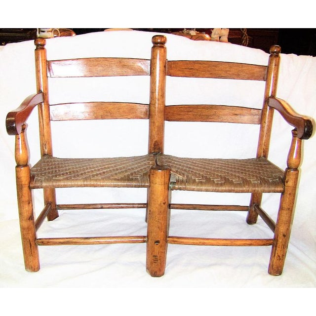 19c American Walnut Wagon Seat For Sale - Image 10 of 10