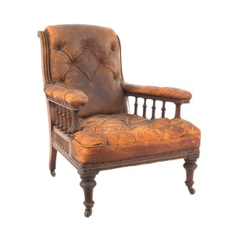 English Regency Mahogany Arm Chair For Sale
