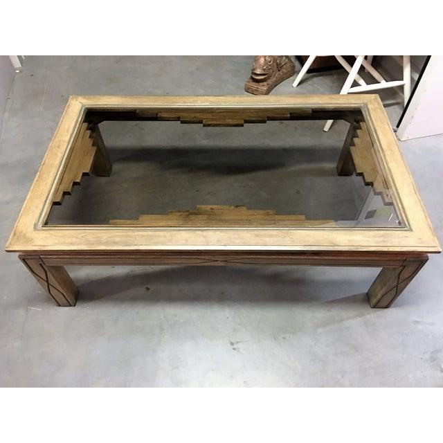 Southwestern Beveled Glass Coffee Table - Image 4 of 11