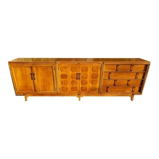 Mid-Century 4-Piece Credenza Bar For Sale