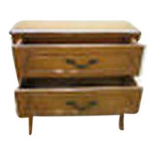 French Louis XV-style 2-Drawer Commode/Accent Chest For Sale