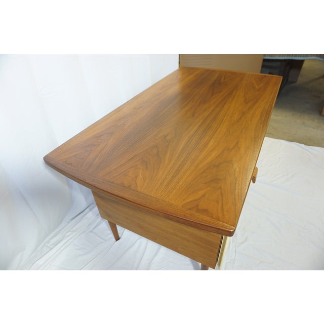 1950s Danish Modern Jens Risom Design Inc Writing Desk For Sale - Image 9 of 13