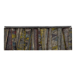 Paul Evans for Directional Deep Relief Wall Cabinet For Sale