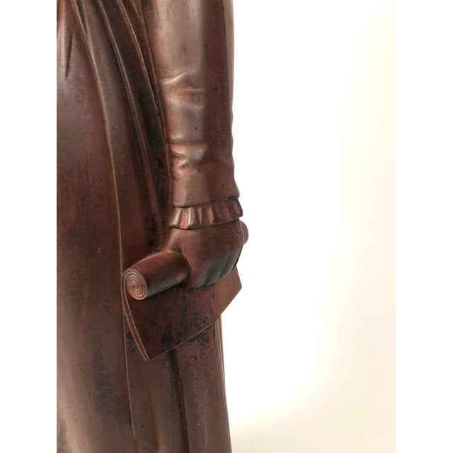Mid 19th Century Large 19th Century George Washington Cast Iron Stove Figure For Sale - Image 5 of 13