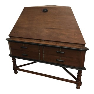 Antique Corner Desk - British India (C. 1880) - Red Jackwood