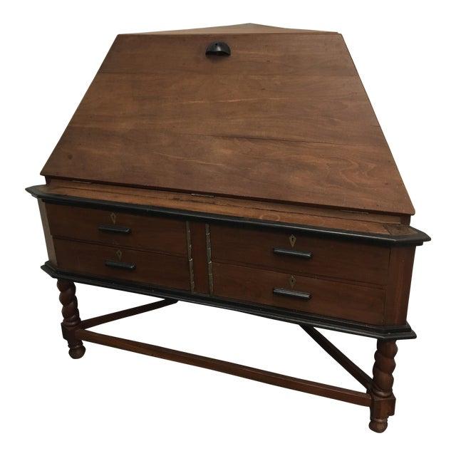 Antique Corner Desk - British India (C. 1880) - Red Jackwood For Sale - Antique Corner Desk - British India (C. 1880) - Red Jackwood Chairish