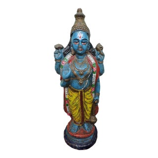 Polychromatic Krishna Figure For Sale