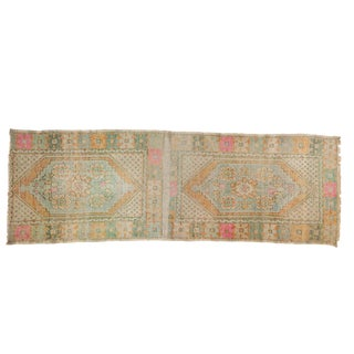 "Vintage Distressed Oushak Rug Runner - 2'10"" X 8'5"" For Sale"