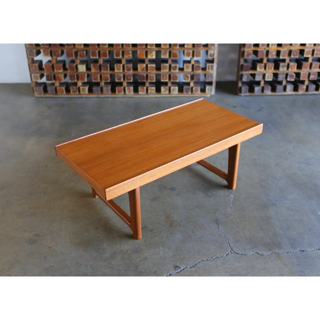 "Torbjørn Afdal for Bruksbo Teak ""Krobo"" Bench For Sale - Image 10 of 10"