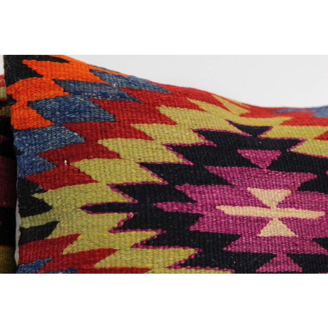 Kilim Pillow Covers - A Pair - Image 2 of 5